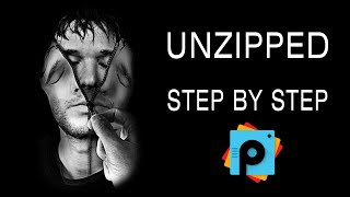 PicsArt Tutorial HOW TO MAKE AN UNZIPPED FACE by paolomore using #picsart photo studio