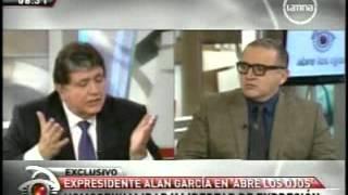 Entrevista a Alan García, programa abre los ojos del 13/08/2012