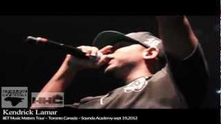 Kendrick Lamar invites Drake on stage in Toronto (BET Music Matters Tour 2012)