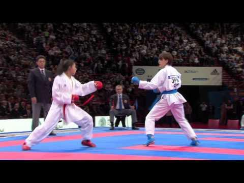 (1/2) Bronze Female Team Kumite Japan vs Mexico. WKF World Karate Championships 2012