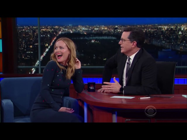 Stephen Colbert's wife cameo at her husband's Late Show!