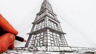 How to Draw in 3-Point Perspective: Narrated
