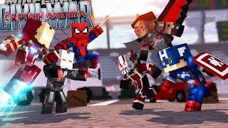 Minecraft Adventure - CAPTAIN AMERICA : CIVIL WAR! EPISODE 3