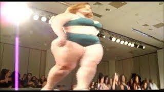 Fashion Week Plus Size 2017 - Ladies Fashion Large Size Bikini -Walks In Slow Motion-Fashion Show .