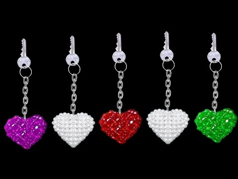 Xxx Mp4 How To Make Crystal Beads Keychains At Home DIY Home Made Keychains ♥Heart♥ 3gp Sex