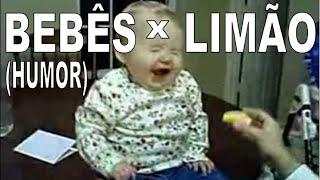Bebês chupando limão pela primeira vez (ótimo)