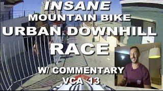 Mountain Bike URBAN Downhill RACE w/ COMMENTARY- Valparaiso Cerro Abajo MTB VCA 2013 - CG VLOG #36