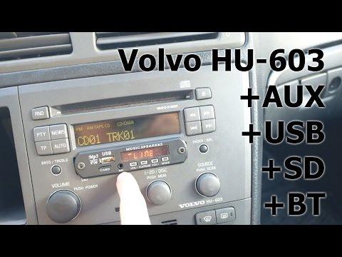 úprava rádia Volvo HU-603, HU-XXX + AUX SD USB Bluetooth