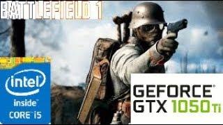 Battlefield 1:GTX 1050 TI 4GB i5 4460