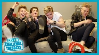 Watch The Vamps play the balloon challenge!
