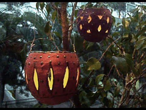 DIY Castiçal de Papel machê Paper mache candlestick Papel maché candelero