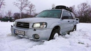 Засадили Subaru Forester. Mitsubishi Pajero Sport vs Niva vs УАЗ в глубоком снегу. OffRoad 1/3
