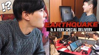 EARTHQUAKE in Korea? | & A Surprise Delivery (자막) 한국에서 지진?
