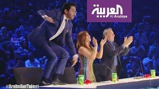 صباح العربية : شاهد أحمد حلمي يقفز بحماس على طاولة التحكيم في ارابز غوت تالنت