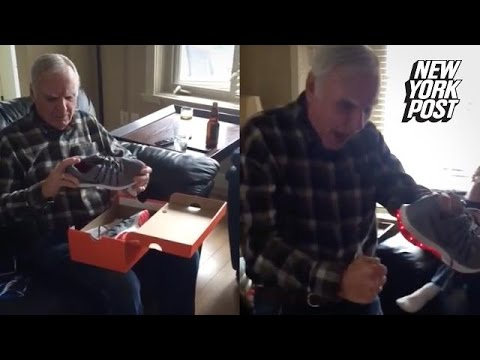 This grandpa's reaction to light-up shoes will light up your day