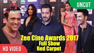 Zee Cine Awards 2017 Full Show Red Carpet | Salman, Kareena, Hrithik, Alia, Anushka And Many...