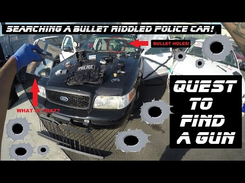 Searching A Bullet Riddled Police Car Ford Crown Victoria Cop Auto Explore