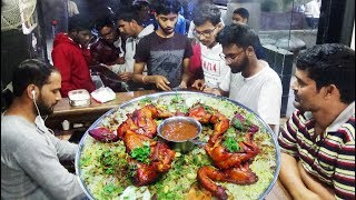 People Eating Arabian Style Chicken Biryani in Grand Mandi | Most Popular Arabian Family Restaurant
