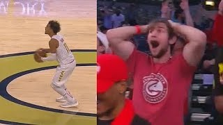 Trae Young Shocks Crowd With Game Winner Using Stephen Curry Range! Spurs vs Hawks