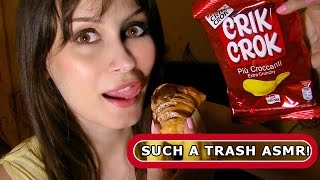 ASMR ITA Eating Sounds ♡ Crunchy Chocolate Pastry & Chips