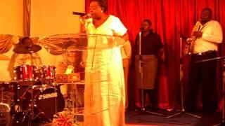 Pastor Abigail Bediako worships