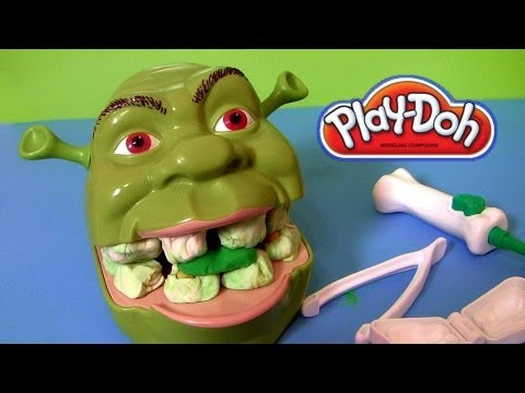 Xxx Mp4 Play Doh Shrek Rotten Root Canal Playset With Dentist Dr Drill N Fill Play Dough Review 3gp Sex