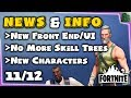 Fortnite News - Update 6.30 - New Front End & UI, Bye Bye Skill and Research Trees!