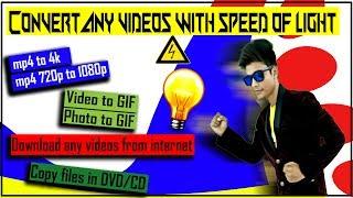 How to Convert Video file to mp4, HD 1080p to 4K Video | Windows , MAC [TechnoBaaz]