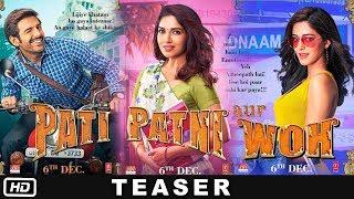 Pati Patni Aur Woh - Official Teaser | Kartik Aaryan | Ananya Panday | Bhumi Pednekar | 6th Dec