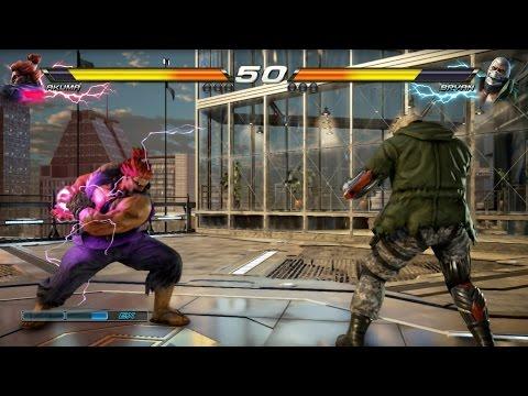TEKKEN 7 (PS4) Bryan Vs Akuma Gameplay | G-CORP Helipad New Stage (1080p 60fps) No Commentary