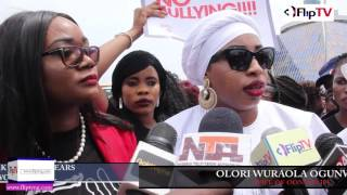 TONTO DIKEH, MERCY AIGBE BREAK DOWN IN TEARS DURING VIOLENCE AGAINST WOMEN WALK