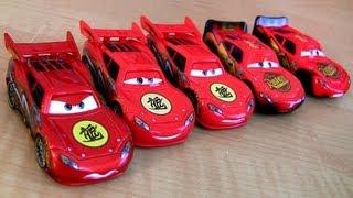 5 McQueen Cars Toon Dragon Lightning McQueen Oil Stains Metallic finish Disney Pixar Tokyo Mater