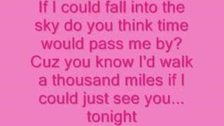 Vanessa Carlton-A Thousand Miles Lyrics