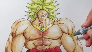 How To Draw Broly The Legendary Super Saiyan - Step by Step Tutorial!