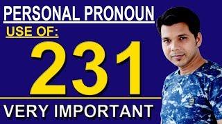PERSONAL PRONOUN 231 & 123