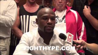 """FLOYD MAYWEATHER ON MARCOS MAIDANA: """"HE KNOW IN HIS HEART HE DIDN"""