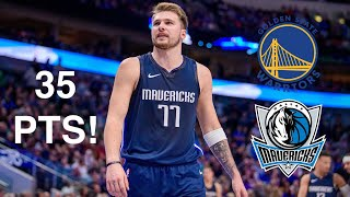 Rapid Highlights of Luca Doncic Scoring 35 Points vs. GS Warriors! 11.20.2019