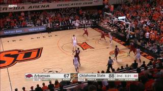 Arkansas vs Oklahoma St Basketball Highlights 1-28-17