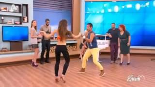 Pedro Santana with Deppy dancing Bachata  Salsa ELENI MENEGAKI SHOW