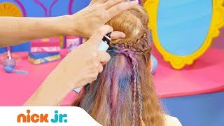 How to Make a Rock Star Hairdo 👩‍🎤 Style Files Hair Tutorial | Sunny Day | Nick Jr.