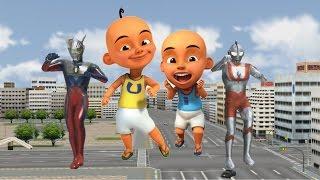 Upin Ipin Super Animasi Transform into Ultraman Zero and Ultraman  Finger Family Songs