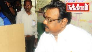 VIJAYAKANTH casts his vote  | TN Election 2016 !