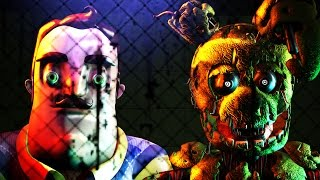 TRY NOT TO SCREAM  NEIGHBOR VS FNAF 2 COMPILATION MOVIE SFM # 3