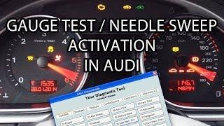 How to activate Audi needle sweep / gauge test (VCDS VAG-COM VAS) A1 A3 A4 A5 A6 A7 A8 Q7 2008+