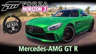 Top Speed: Mercedes-AMG GT R! + Racha com Ferrari F12, Lexus LFA e outros! | Forza Horizon 3 + G920
