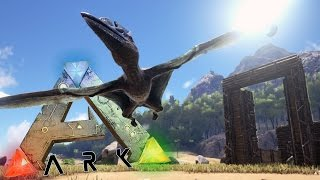 ARK Survival Evolved Gameplay - Taming A Pteranodon (Pterodactyl) - Taming, Building, Funny Moments