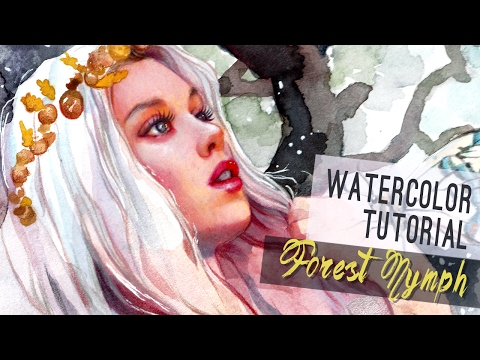 Xxx Mp4 WATERCOLOR TUTORIAL Forest Nymph 3gp Sex
