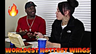THE ATOMIC WING CHALLENGE WITH NATE & ASHLEY! (BLAZIN HOT)