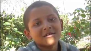Nepali Small boy singing a song from opposite line