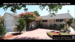 Milpitas Home For Sale | 1690 Big Bend Drive Milpitas CA 95035 (SOLD)